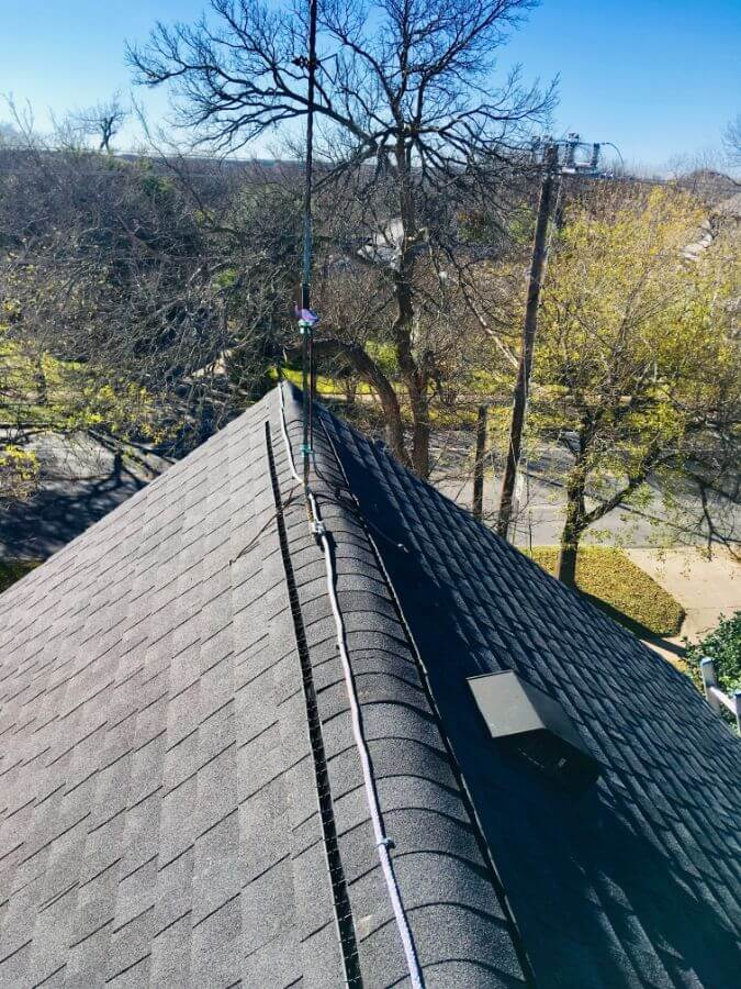 Residential Lightning Rod Installation 1